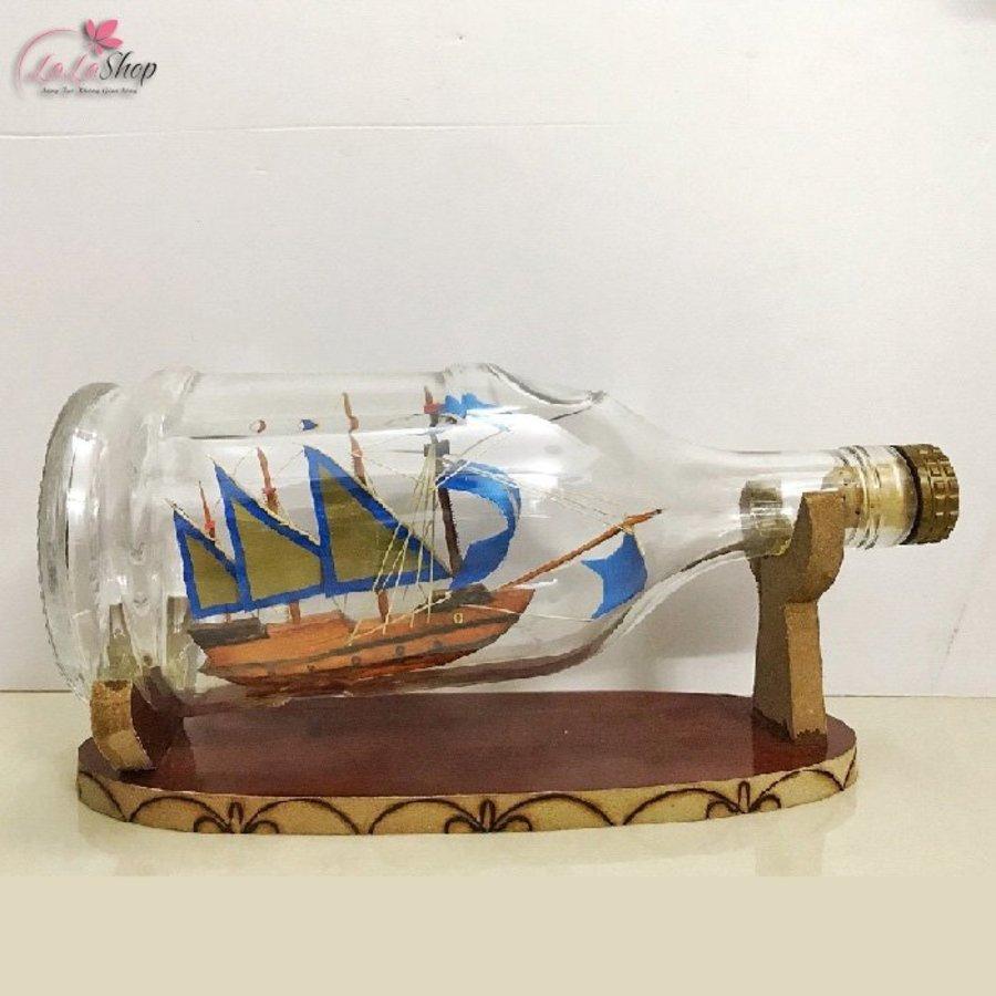 Thuyền trong chai phong thủy 24x10x12