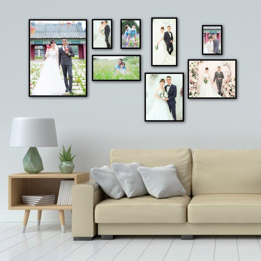 Bộ 8 khung ảnh cưới treo tường đẹp