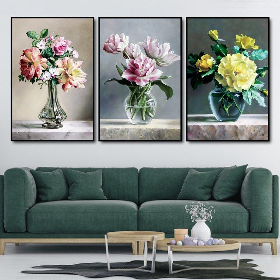 Tranh treo tường nghệ thuật hoa đa sắc