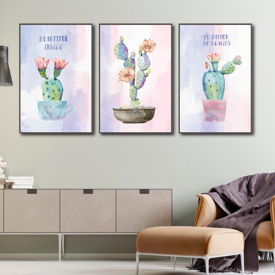 Tranh treo tường hoa xương rồng (KE-015)