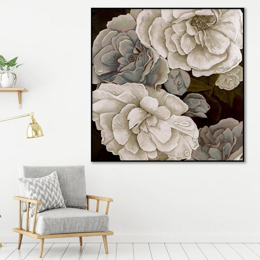 Tranh treo tường hoa đơn sắc