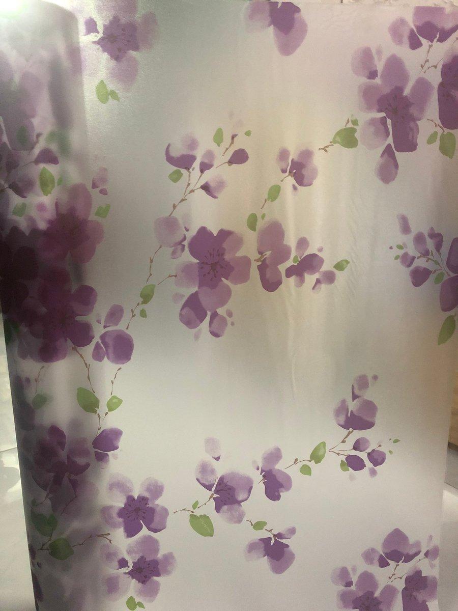 Giấy decal cuộn kính mờ hoa tím