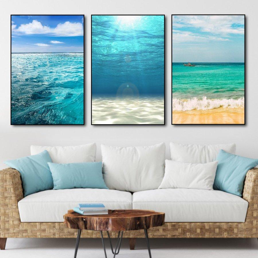 Tranh treo tường đại dương xanh