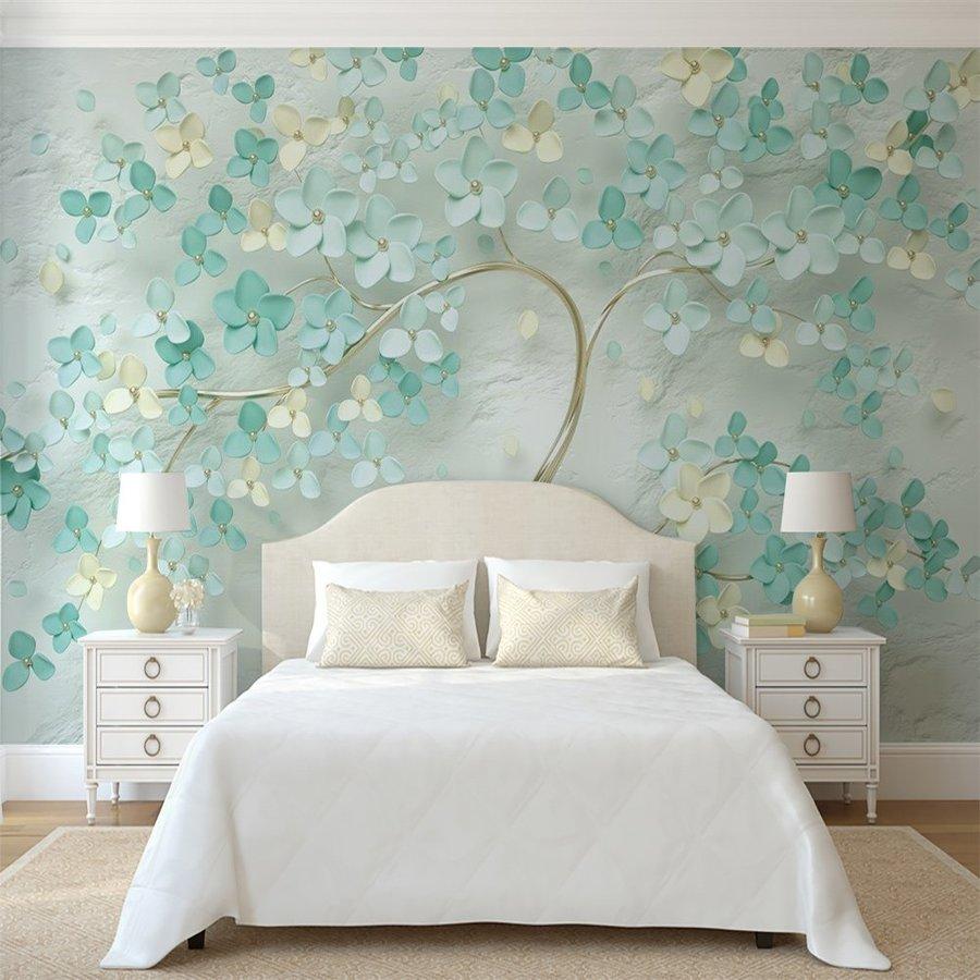 Tranh dán tường cây xanh sang trọng