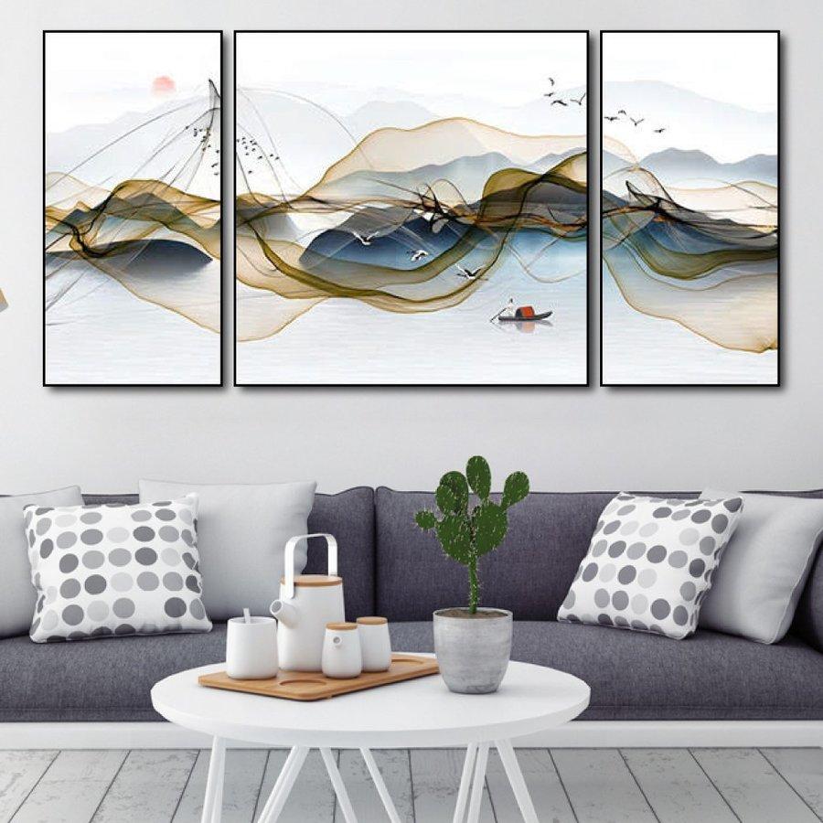 Tranh treo tường cảnh trên sông