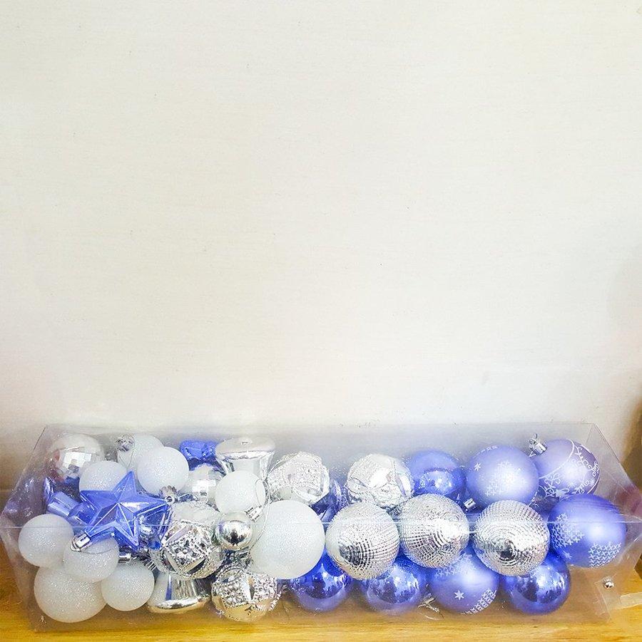 Đồ trang trí noel combo quả châu xanh treo