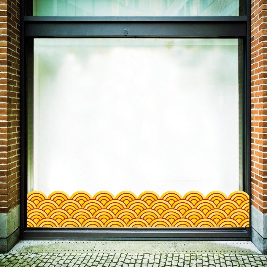 Decal dán chân tường họa tiết vàng