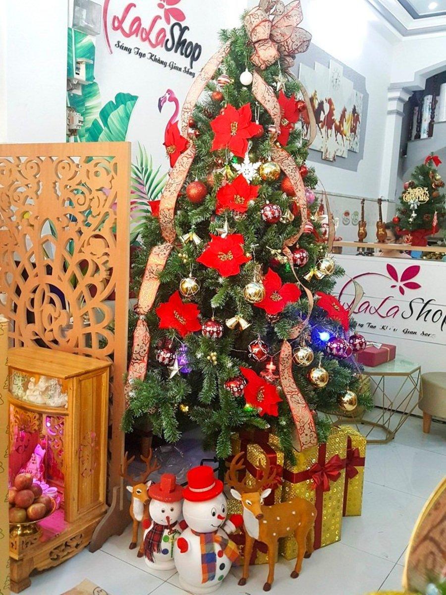 Cây thông Noel trang trí cây 2m1 mẫu 3