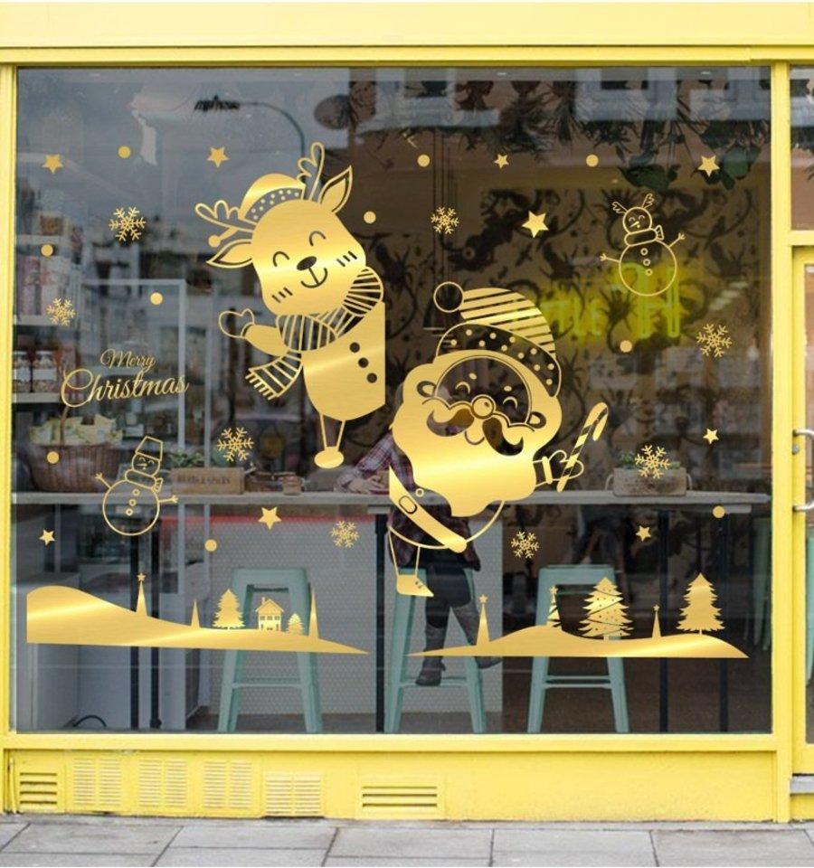 Combo decal noel trang trí lễ hội Giáng sinh tuần lộc