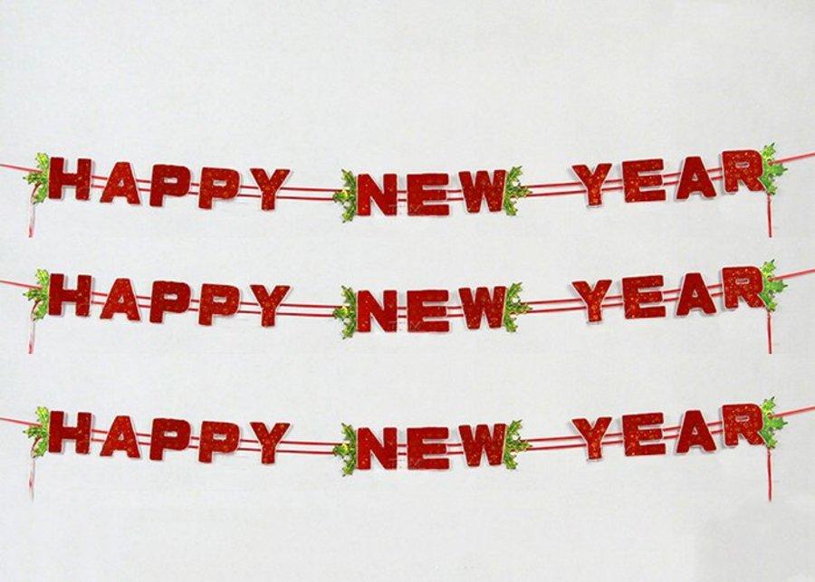 Dây chữ happy new year trang trí tết