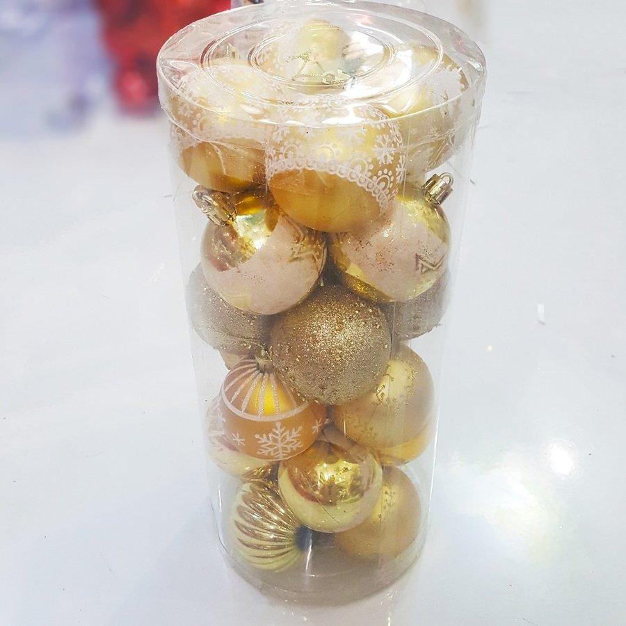 Hộp châu vàng họa tiết trang trí noel
