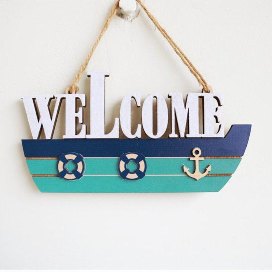 Bảng Treo Con Tàu Welcome
