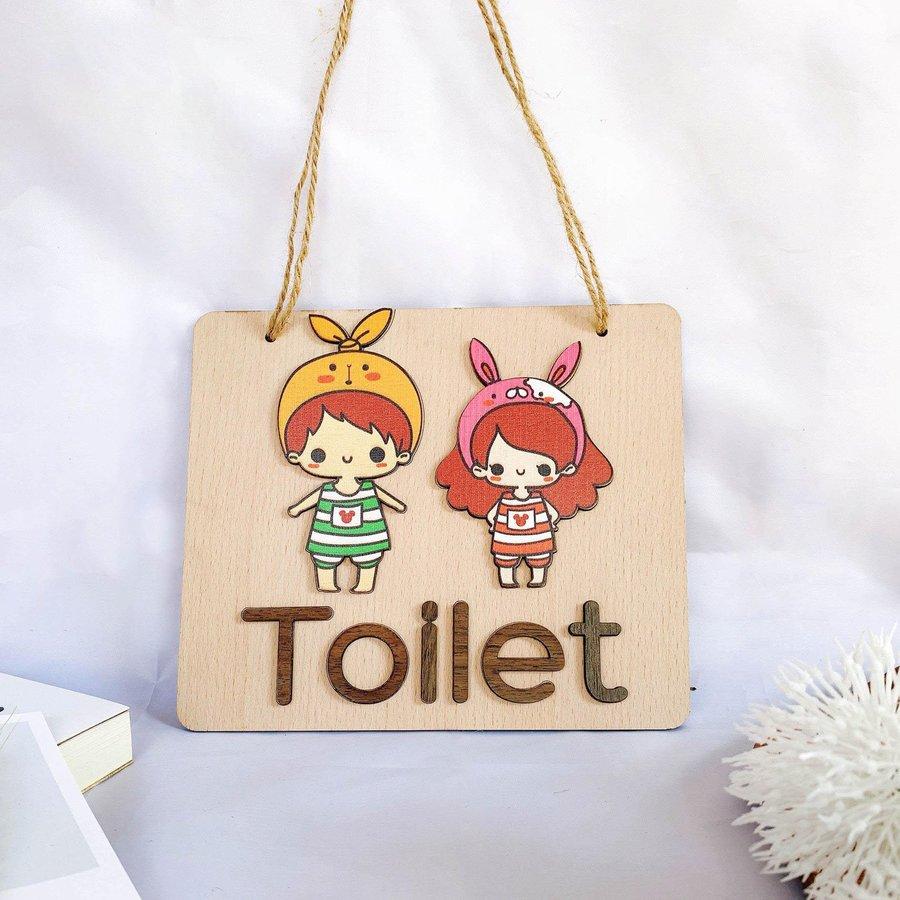 Bảng Treo Toilet Dễ Thương