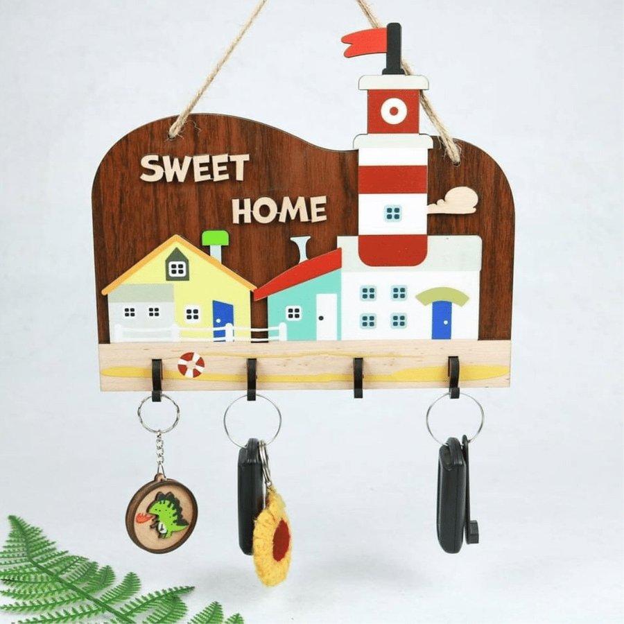 Bảng gỗ trang trí sweet home mẫu 04