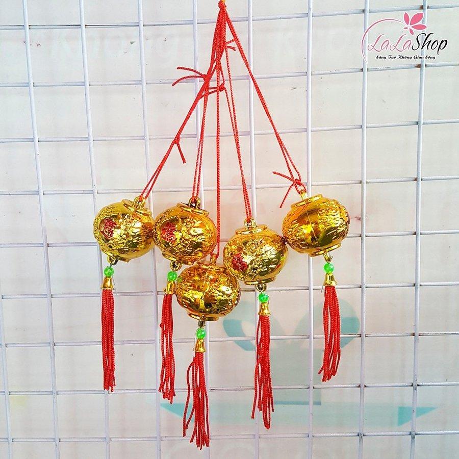 Đèn lồng vàng mini trang trí tết