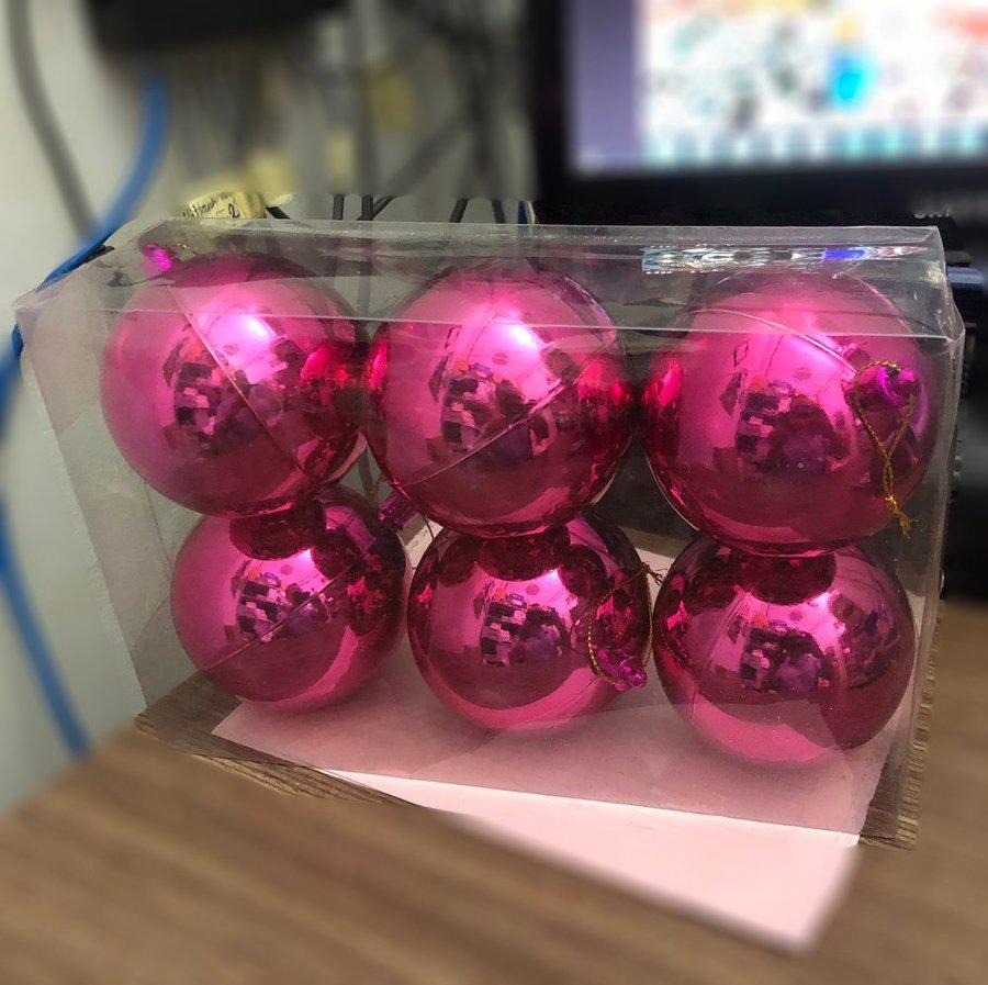 Hộp 6 quả châu bóng trang trí noel