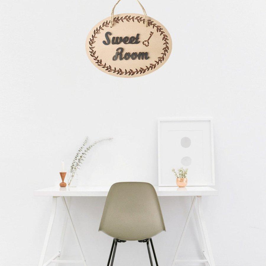 Bảng gỗ trang trí nhà handmade Sweet Room mẫu 6