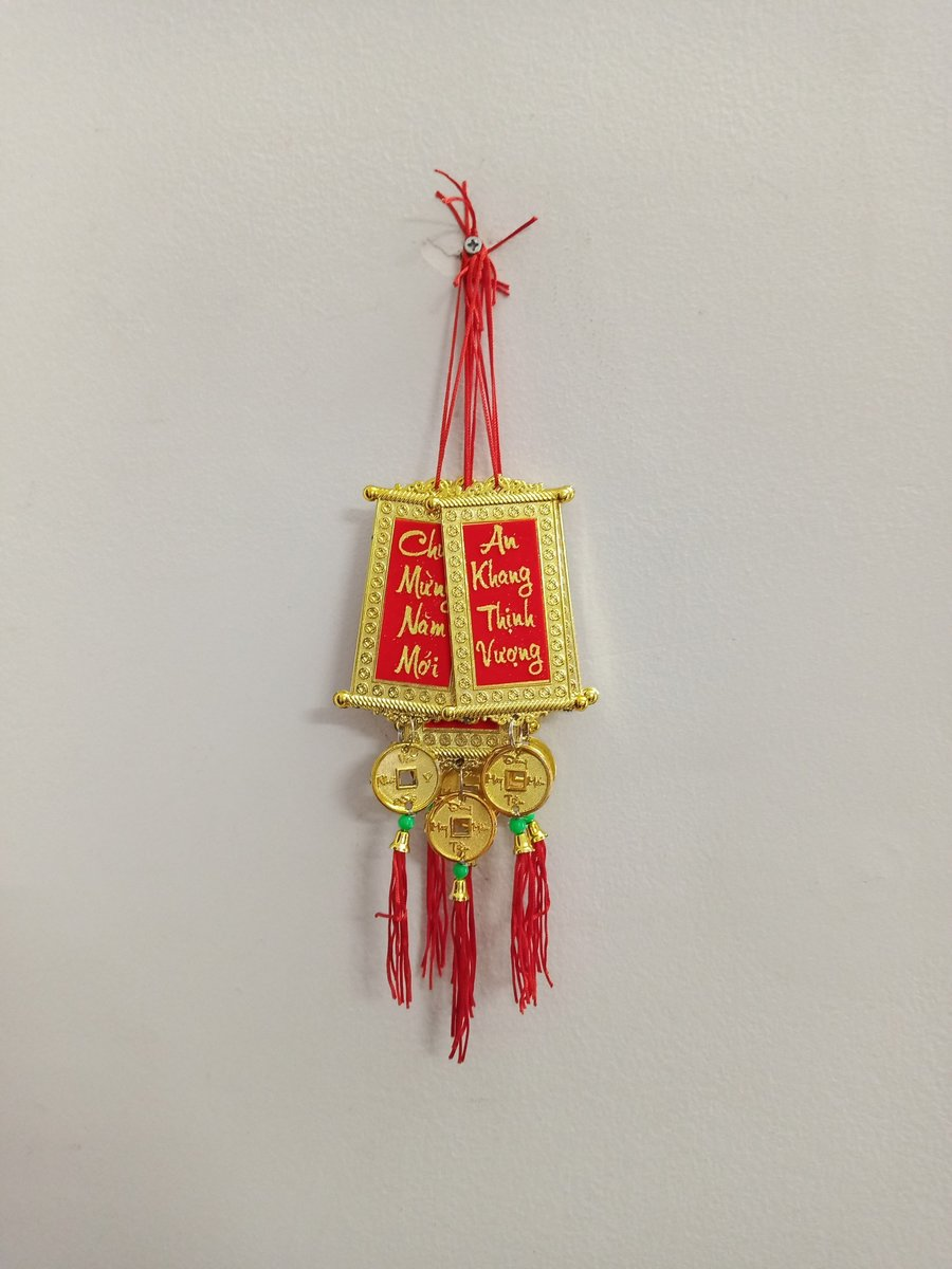 Dây lộc treo trang trí tết Chúc mừng năm mới - An khang thịnh vượng (bộ 10 dây)