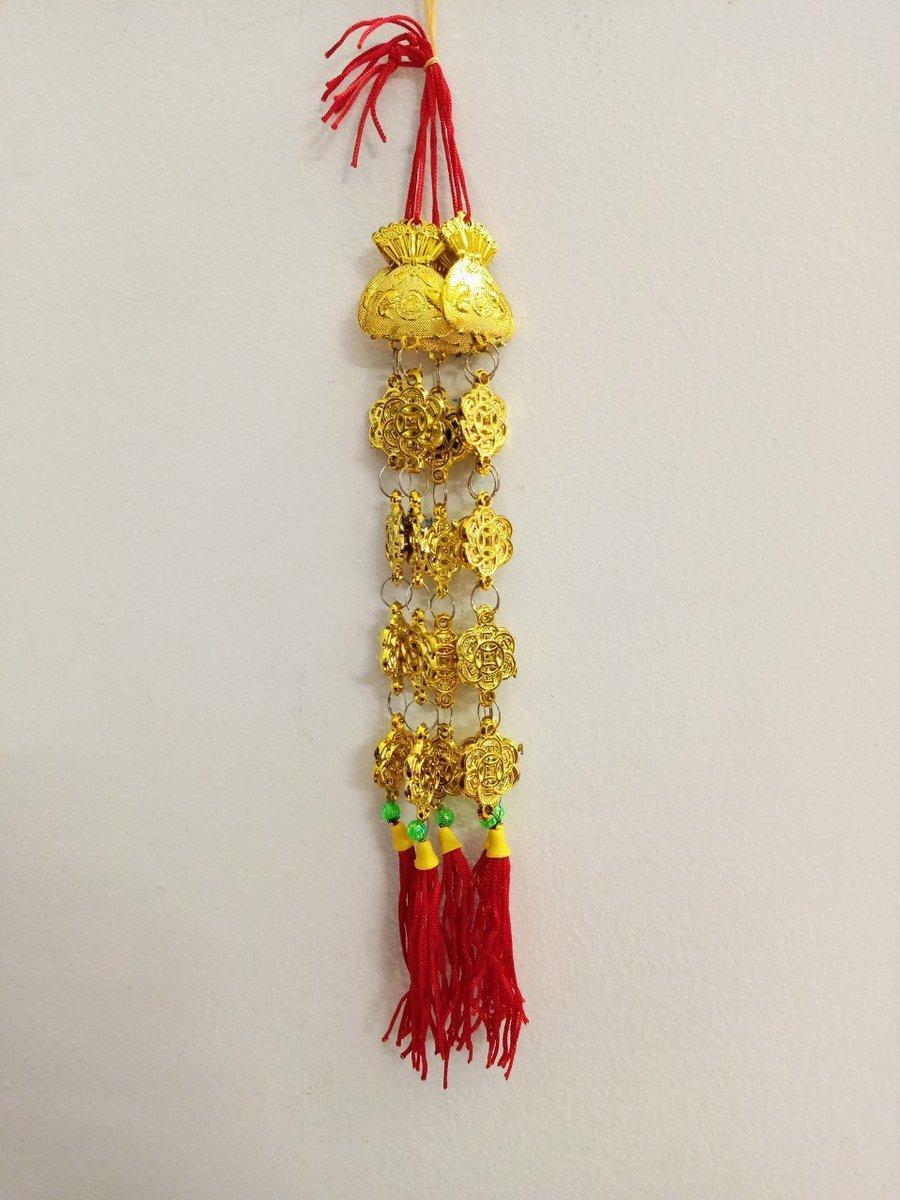 5 Lộc treo trang trí tết Túi vàng và dây tiền xu may mắn
