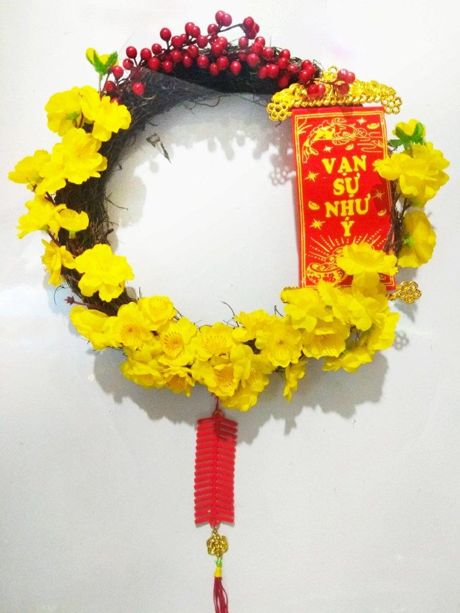 Vòng hoa trang trí ngày tết size 30cm