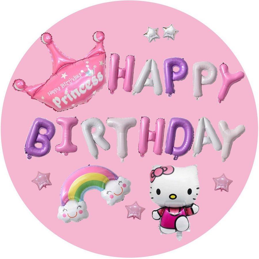 Set Bóng Trang Trí Sinh Nhật Happy Birthday tiểu công chúa 02
