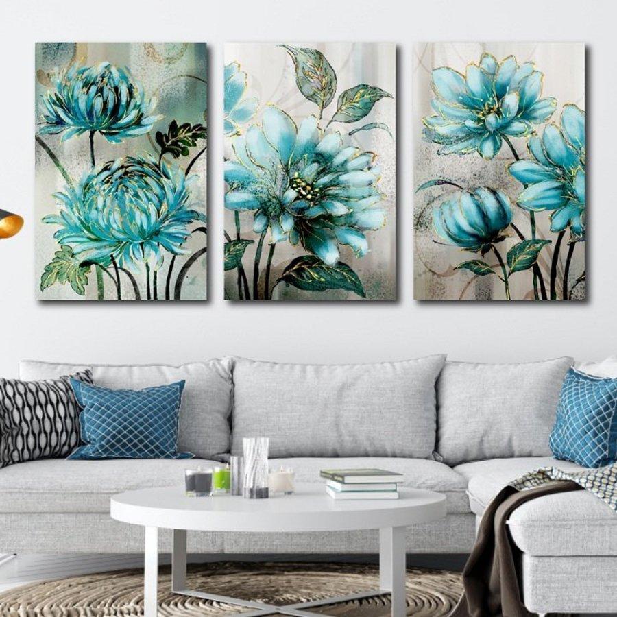 Tranh treo tường hoa xanh nghệ thuật 2