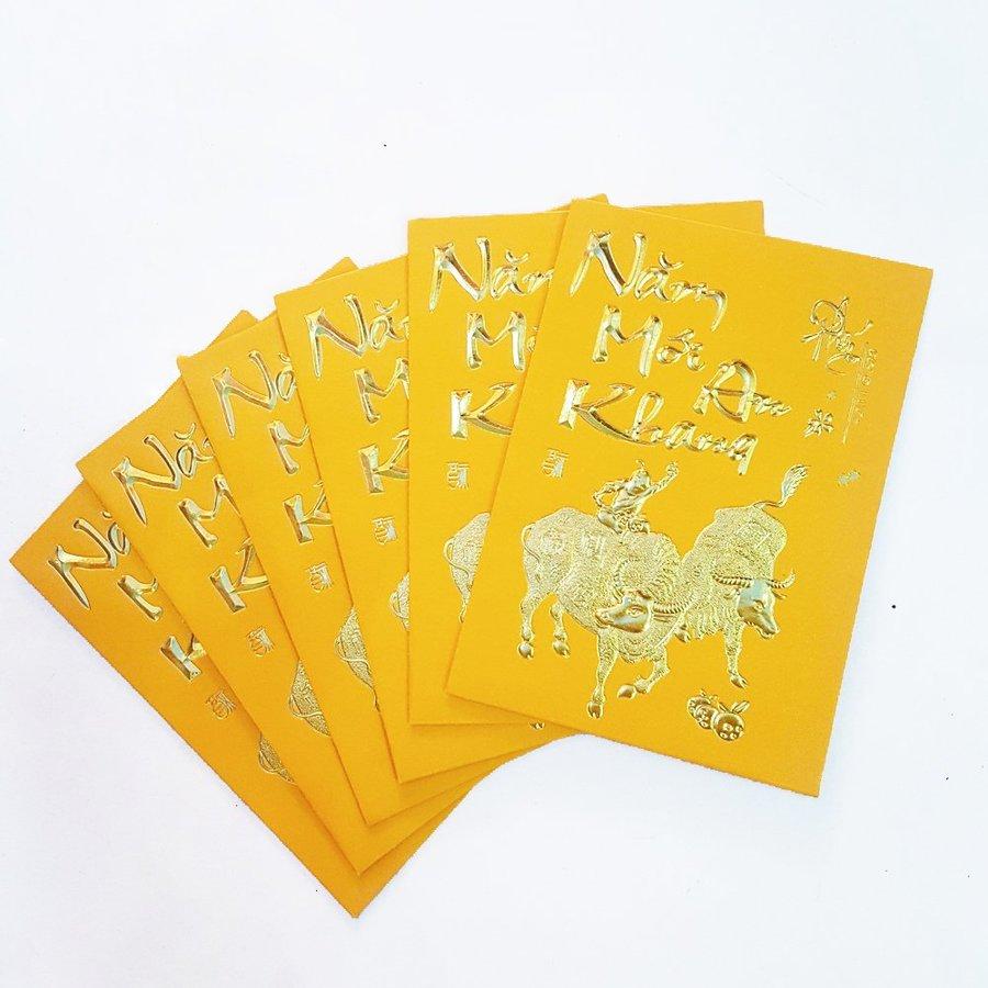 Bao lì xì tết trâu vàng năm mới an khang 2