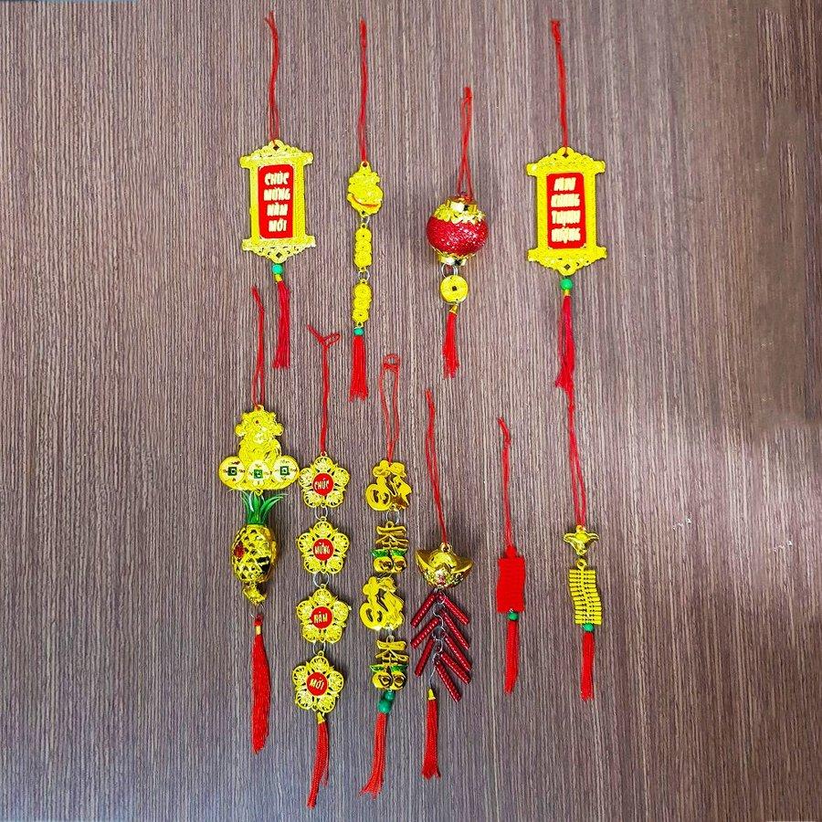 Combo 10 dây treo tài lộc số 4 trang trí tết