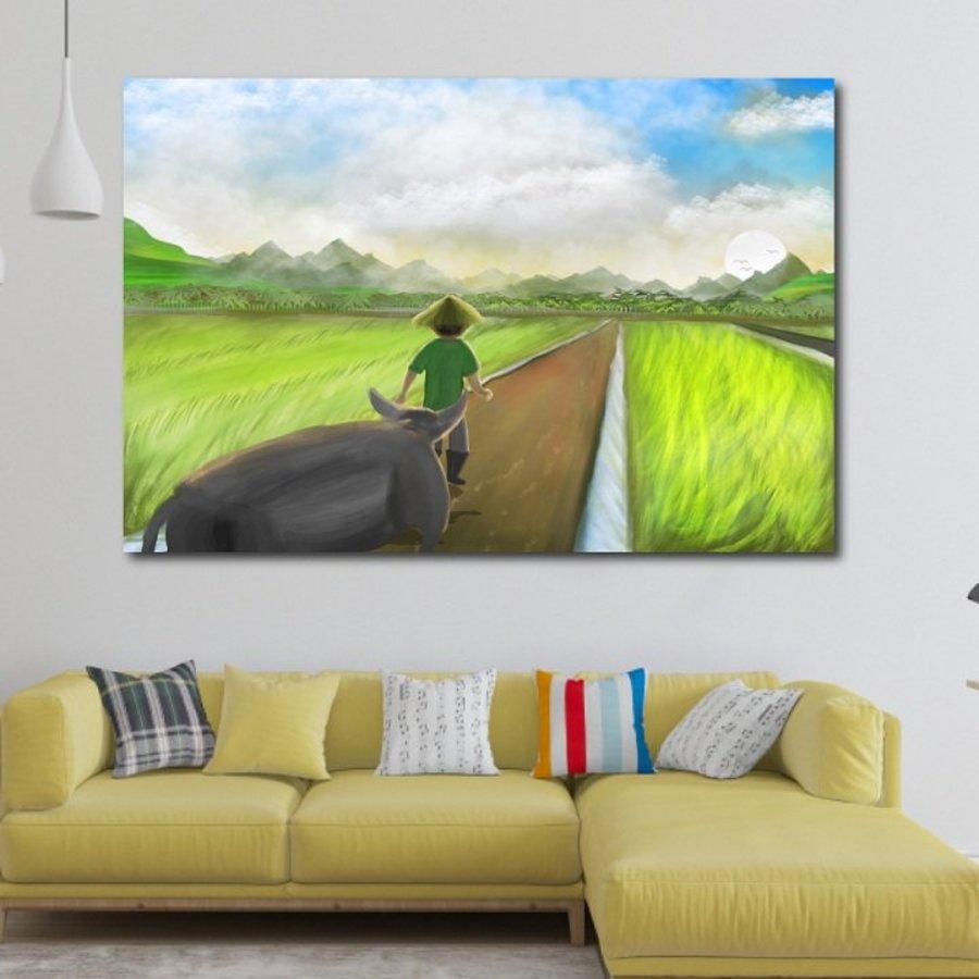 Tranh treo tường phong cảnh đồng quê 3