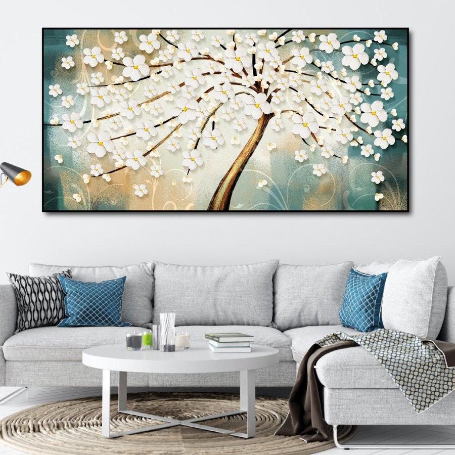 Tranh treo tường những nụ hoa trắng
