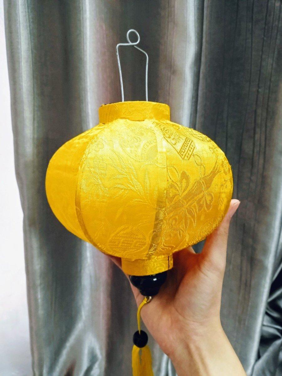 Lồng đèn hội an trang trí tết - (Loại Tròn vàng)