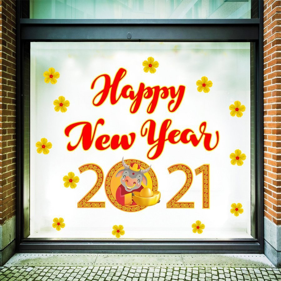 Decal Happy New Year  size to 1,2m