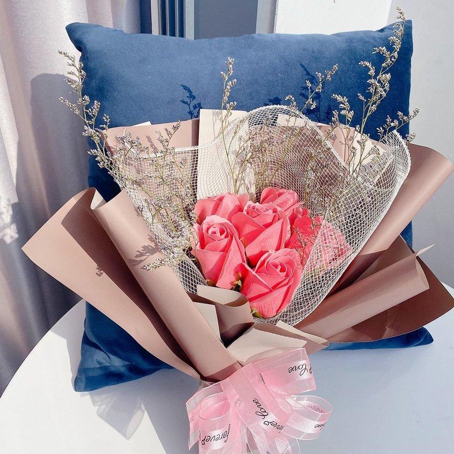 Bó hoa hồng sáp thơm (6 bông)
