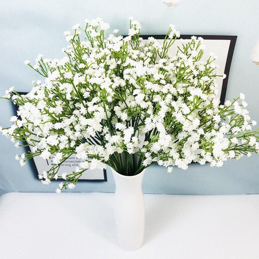 Cành Hoa Điểm trắng trang trí - Cành 5 nhánh