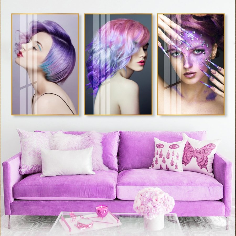 Tranh Treo Tường tóc nghệ thuật 2