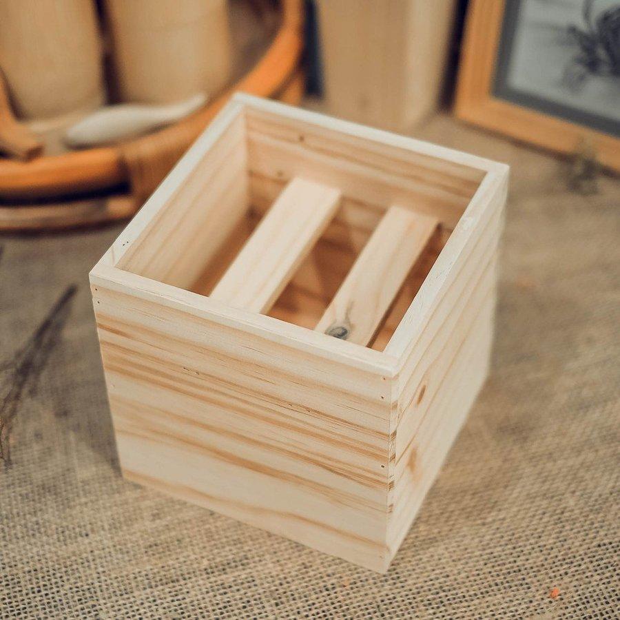 Hộp gỗ vuông 15x15x15cm