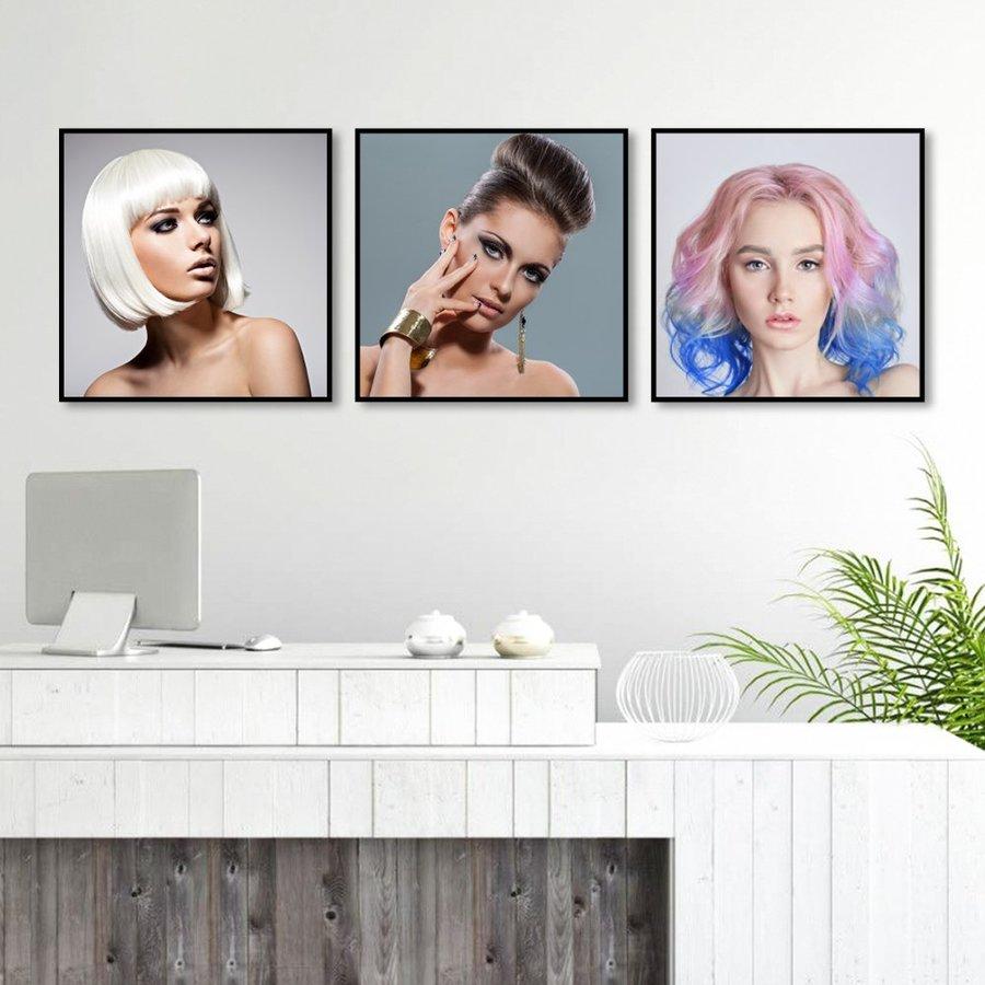 Bộ Tranh Treo Tường 3 Tấm Lady Hair - H528