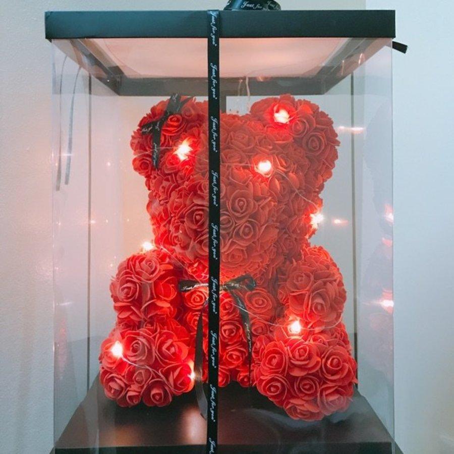 Gấu hoa hồng sáp size 23cm
