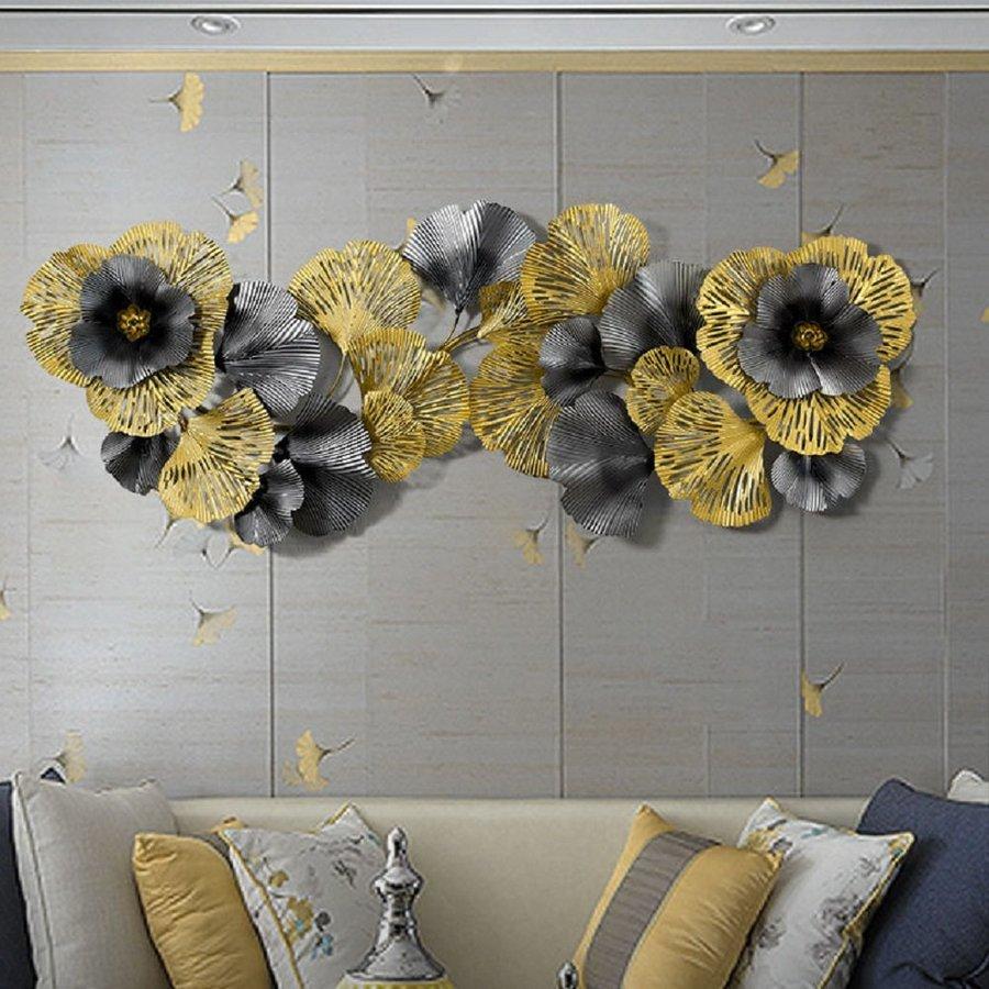 Tranh sắt nghệ thuật treo tường lá rẻ quạt 3