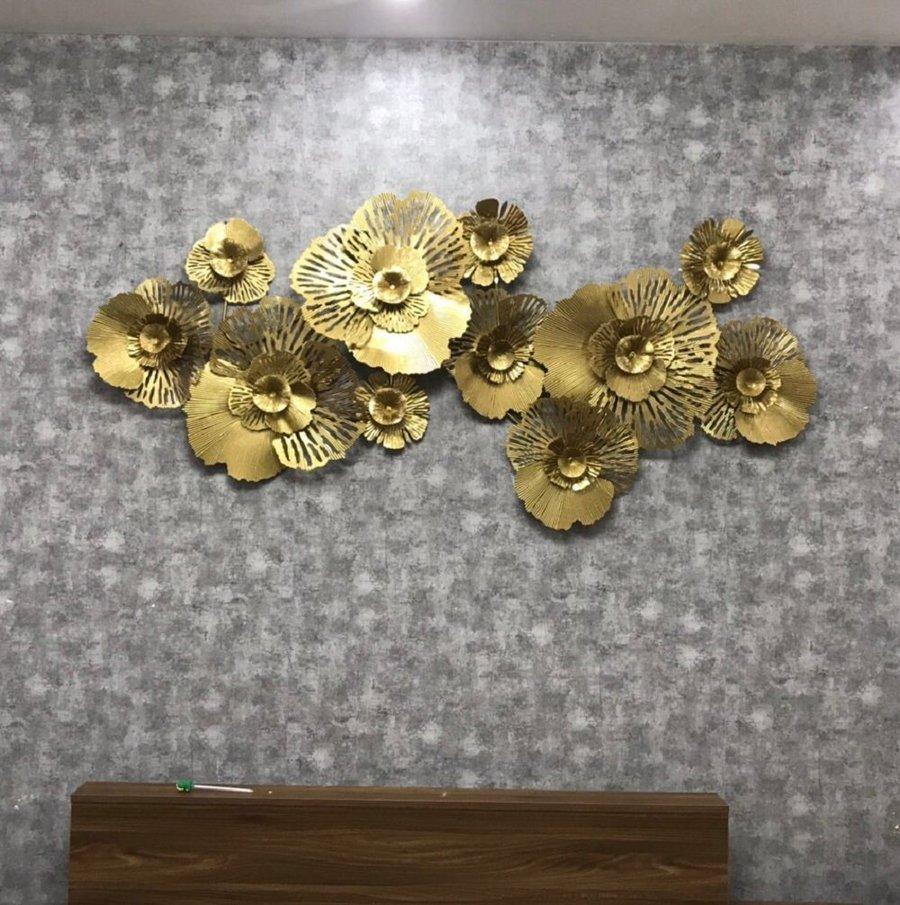 Tranh sắt nghệ thuật treo tường lá dát vàng