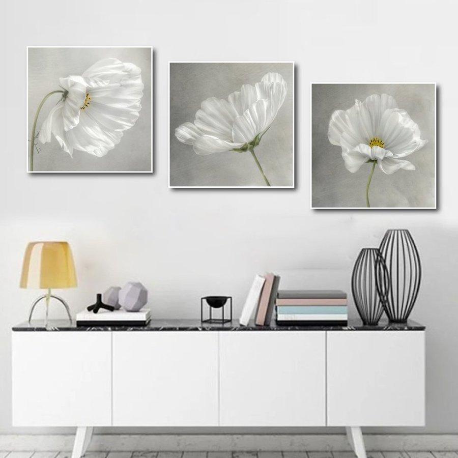 Tranh treo tường hoa trắng tinh khôi (S)