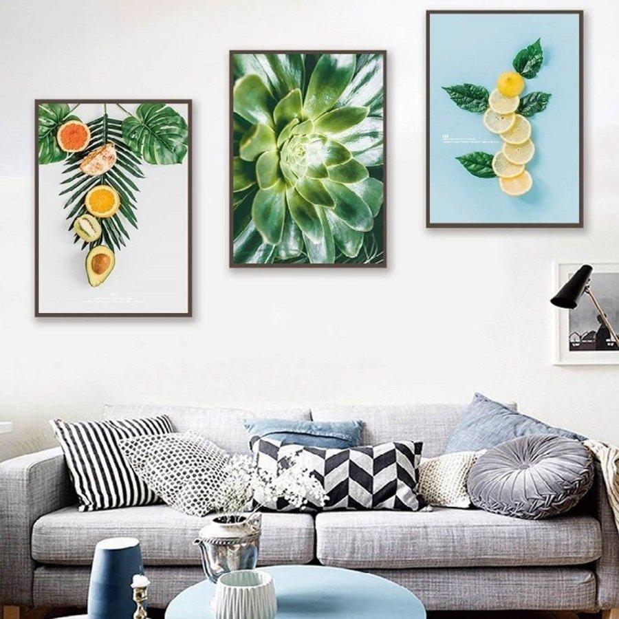 Tranh treo tường trái cây mùa hè nhiệt đới (S)