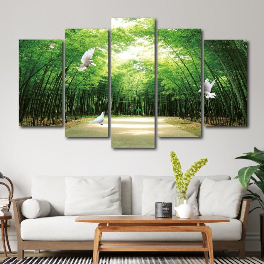 Tranh treo tường phong cảnh rừng trúc 3d
