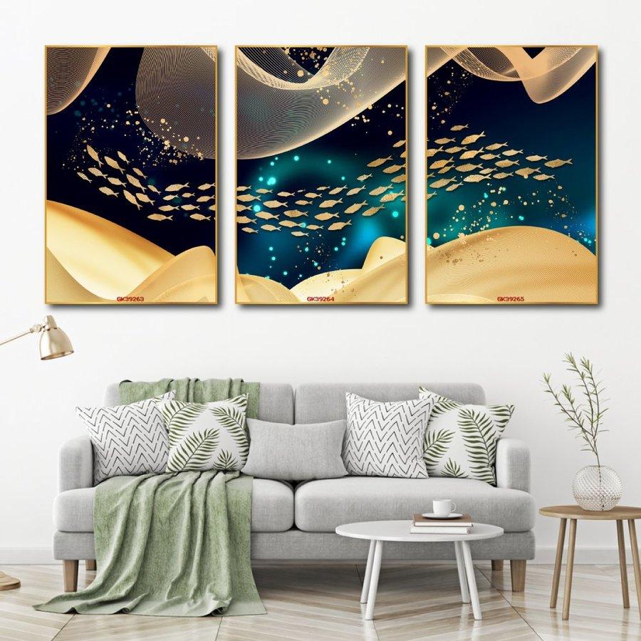 Tranh Treo Tường Đàn Cá Vàng Nghệ Thuật