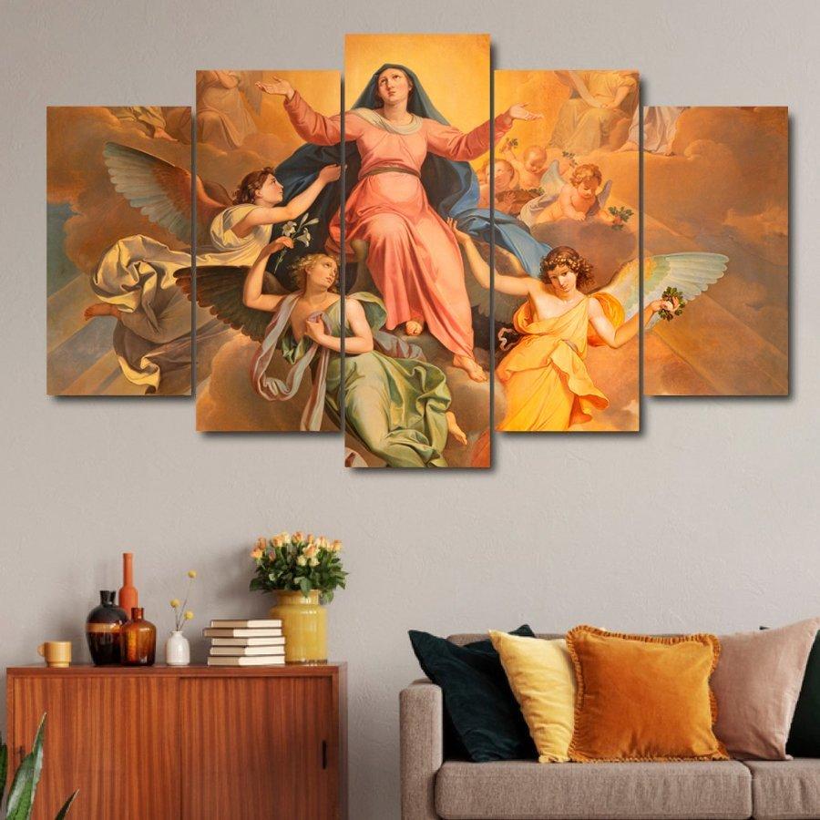 Tranh treo tường đức mẹ và thiên thần