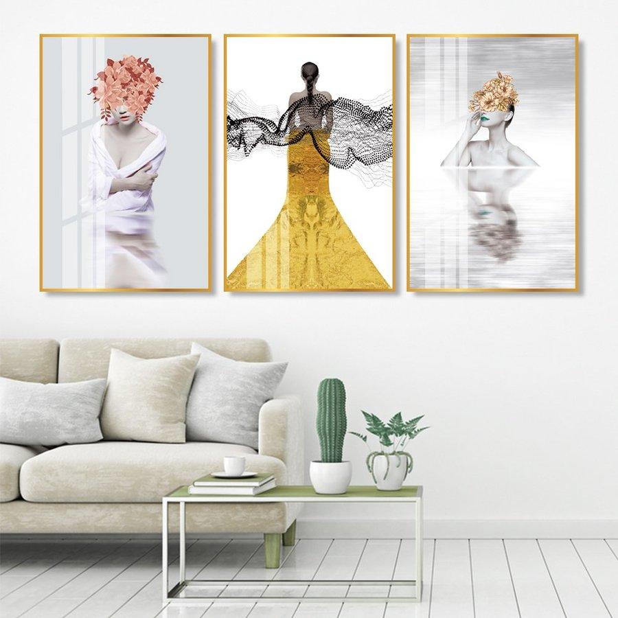 Tranh treo tường 3 cô gái nghệ thuật