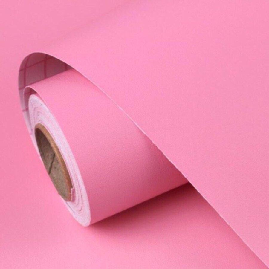 10m Giấy dán tường cuộn màu hồng đậm