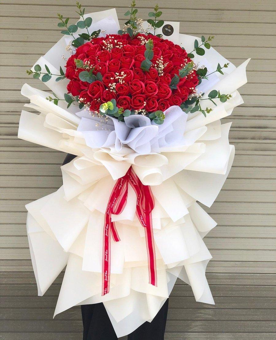 Bó Hoa Hồng Sáp Đỏ - REAL LOVE