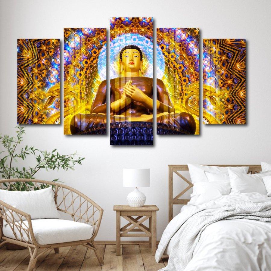 Tranh Đức Phật Thích Ca Tỏa Hào Quang