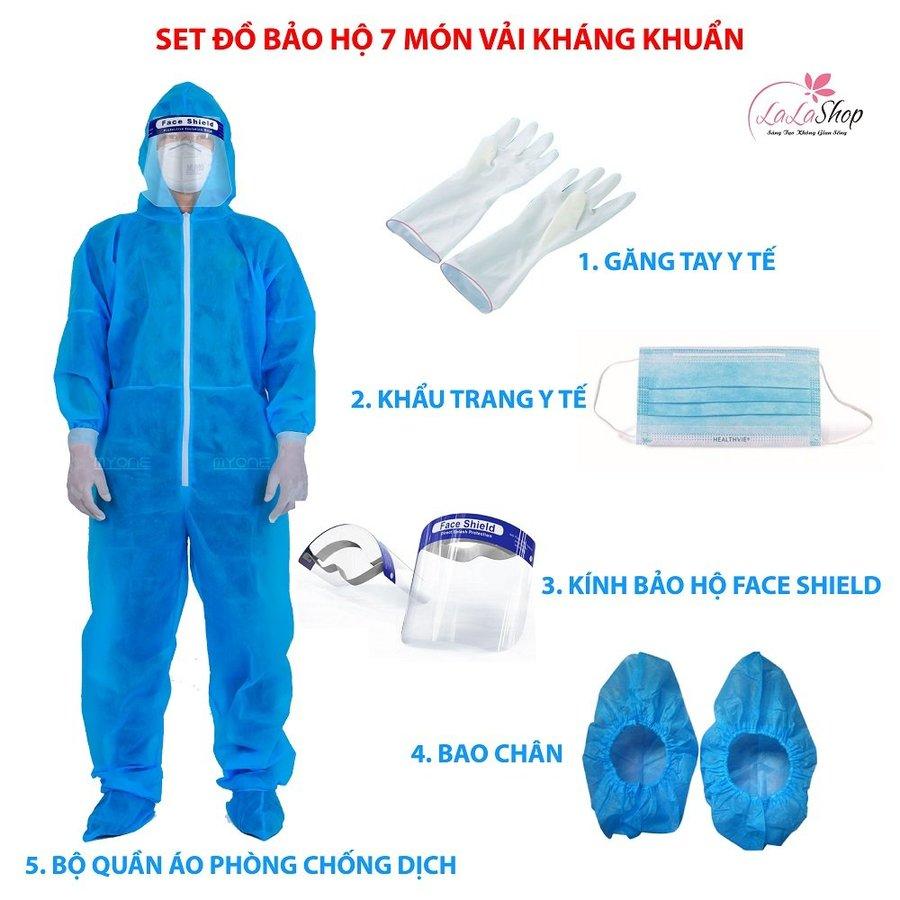 Set đồ bảo hộ 7 món vải kháng khuẩn